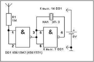 Схема самодельного детектора