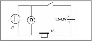 Индикатор на полевом транзисторе
