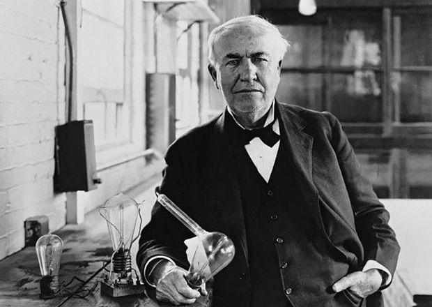 Эдисон и его лампа