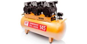 Безмаслянный воздушный компрессор на 220В
