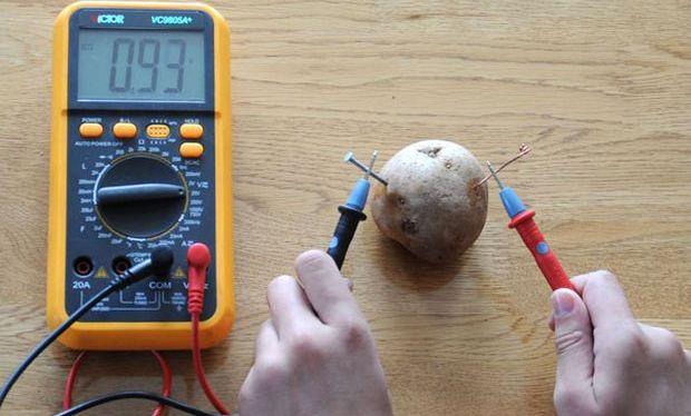 Электричество из картофеля