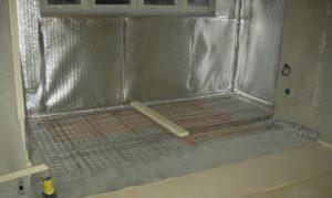 Вертикальная изоляция под теплый пол