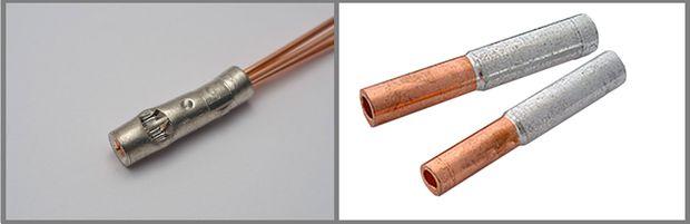 Соединение проводов с помощью гильз