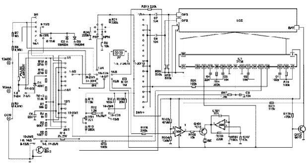 Схема мультиметра DT-832