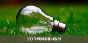 Лампочка на траве