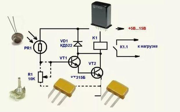 городе тула датчик света на фоторезисторе схема фото, картинки