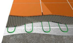 Теплый пол с тонким кабелем