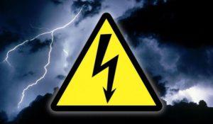 Значок опасности поражения электротоком