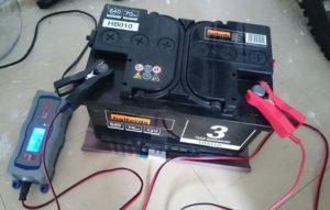 Зарядка аккумулятора дома