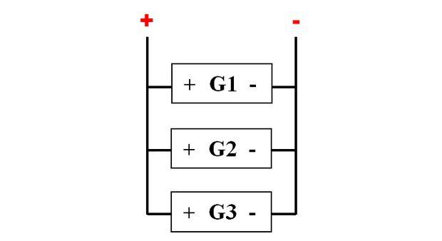 Параллельное соединение аккумуляторов