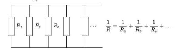 Схема электрических цепей, где обозначают реостаты с параллельным подключением