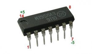 Частотный генератор с микросхемой К155ЛА3