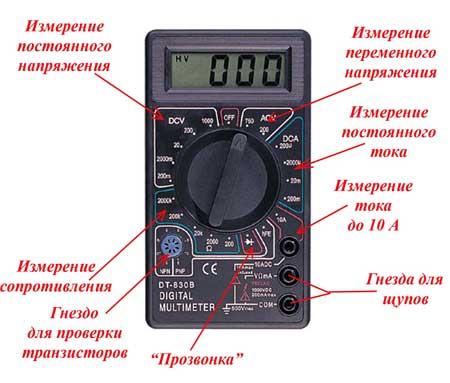 тестер электрический мультиметр инструкция - фото 2