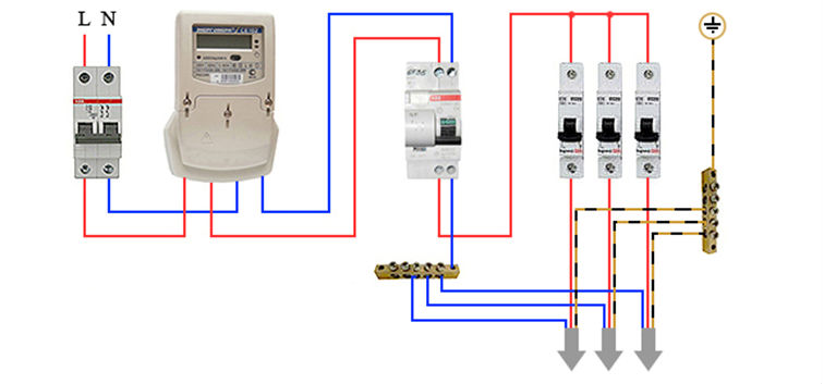 Схема подключения автоматов в щитке своими руками