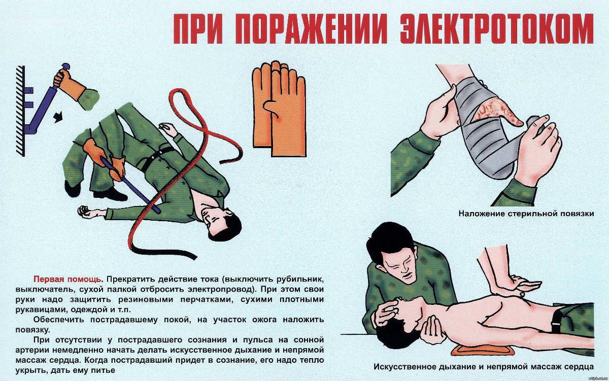 Инструкция оказания первой помощи при поражении электрическим током