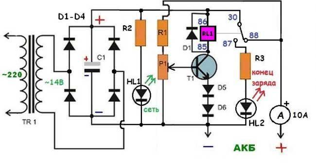 Как сделать зарядное устройство для аккумулятора 14в