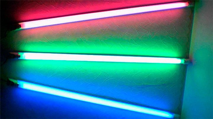 Цветные люминесцентные лампы