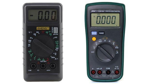 Электронный мультиметр для измерения напряжения