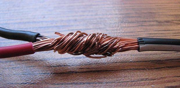 Скрутка электрических проводов