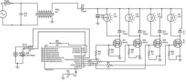 Принципиальная схема прибора Алмаг-01