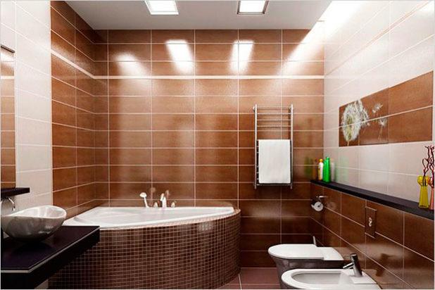 Вариант освещения в ванной комнате