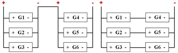 Комбинированная схема соединения аккумуляторов