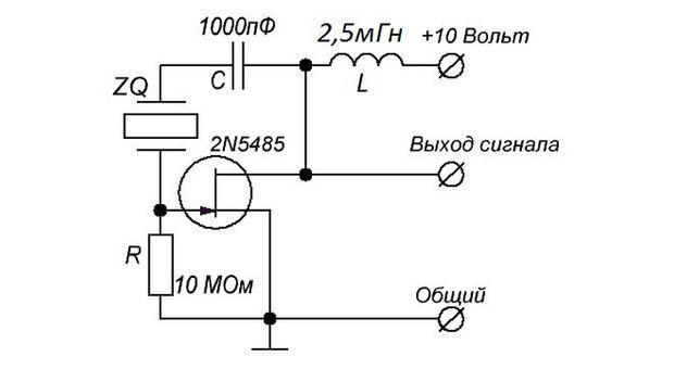 Простейшая схема кварцевого генератора